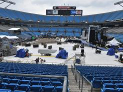 Plans to hold the final night of the Democratic National Convention at Bank of America Stadium in Charlotte were shelved on Wednesday. Preparations were still in full swing on Tuesday.
