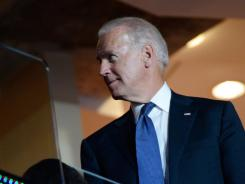 Vice President Biden attends the opening day of the Democratic National Convention in Charlotte on Wednesday.