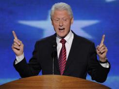 Former president Bill Clinton speaks at the Democratic National Convention in Charlotte on Wednesday.