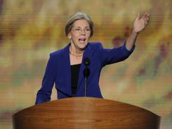 Elizabeth Warren, candidate for Senate from Massachusetts, addresses the Democratic National Convention Wednesday night in Charlotte.