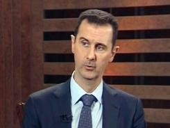 Syrian President Bashar Assad speaks during an interview in Damascus on Aug. 29.