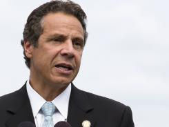 New York Gov. Andrew Cuomo speaks in Piermont, N.Y.