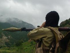A Pakistani Taliban militant holds a rocket-propelled grenade in Shawal, in the tribal region of Waziristan, Pakistan, a stronghold of the Haqqani network.