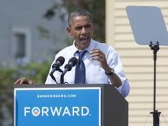 President Obama speaks at a campaign event at Strawbery Banke Field on Friday in Portsmouth, N.H.
