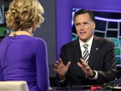 Republican presidential candidate Mitt Romney appears on Fox News.