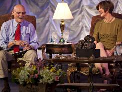 James Carville, political consultant for the Clinton campaign in 1992, and his wife, Mary Matalin, who was a consultant for the Bush campaign.