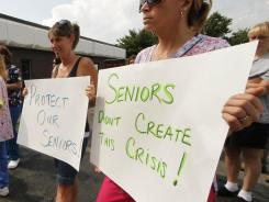 Healthcare workers and retirees protest proposed cuts to Medicaid, Medicare and Social Security.