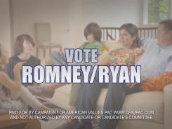 A new anti-Obama commercial by the Campaign for American Values political action group.