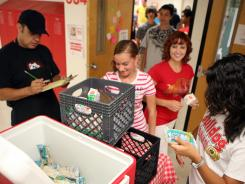 Free breakfast for all the students at a high school in Pueblo, Colo., in 2010.
