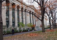 "The Harvard campus in Cambridge, Mass. Harvard's the top ""dream"" pick for parents, second for students."