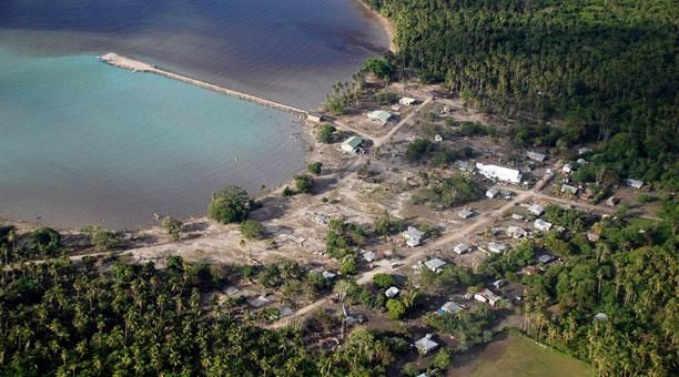 samoa dall'alto tsunami