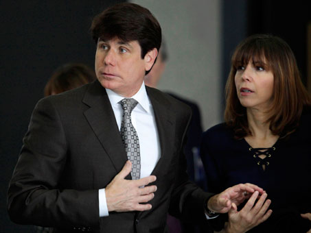 rod blagojevich jogging. Former Illinois governor Rod Blagojevich and his wife, Patti, join hands as
