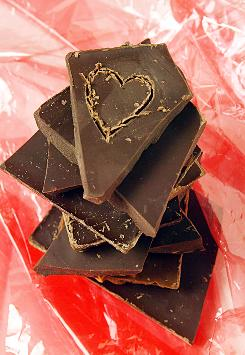Dark chocolate is rich in antioxidants and flavonols.