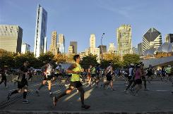Thousands of runners participate in the Bank of America Chicago Marathon Oct. 10, 2010.