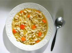 Chicken noodle soup is often used as a home remedy during cold and flu season.