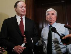 Crucial pair: Senate Banking Committee Chairman Christopher Dodd, D-Conn., right, and the panel's ranking Republican, Richard Shelby of Alabama.