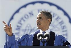 Obama: Addresses graduates Sunday.