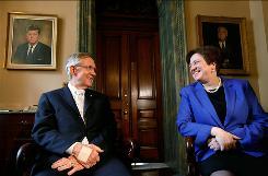 Capitol tour: Supreme Court nominee Elena Kagan meets with Senate Majority Leader Harry Reid.