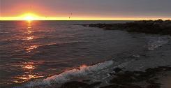 Massachusetts coastline: Cape Wind will build 130 wind turbines in Nantucket Sound.