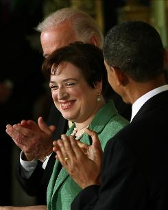 Introducing: President Obama, Vice President Biden and Elena Kagan. 
