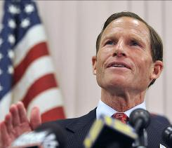 Connecticut Attorney General and Democratic candidate for U.S. Senate, Richard Blumenthal,  addresses a report that he has misstated his military service during the Vietnam War.