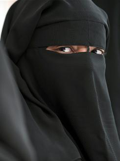 In France, a bill would ban wearing this niqab in public.