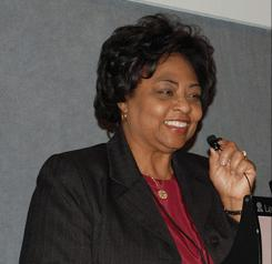 Shirley Sherrod when she was working for the U.S. Department of Agriculture. 