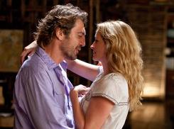 "Javier Bardem as ""Felipe"" and Julia Roberts as ""Elizabeth Gilbert"" in a scene from the film ""Eat, Pray, Love."""