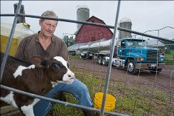 "In Callicoon, N.Y.: Dairy farmer Bill Graby says fracking is ""absolutely"" environmentally safe. ""I would never do anything to destroy my property."""