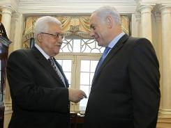 President Mahmoud Abbas, left, of the Palestinian Authority and Israeli Prime Minister Benjamin Netanyahu on Thursday in Washington.