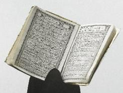 A copy of the Islamic holy book, the Quran.