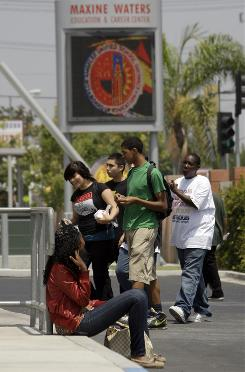 Students begin the new school year in Los Angeles.