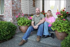 Suing: Anthony and April Soper of Lake Stevens, Wash., might be part of a class action lawsuit against Bank of America over mortgage modification.