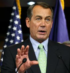 House Minority Leader John Boehner.