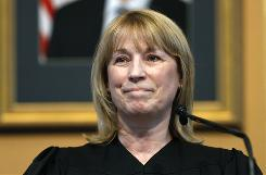 Iowa Chief Justice Marsha Ternus was voted out Tuesday.