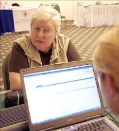 In 2006: Janet Robinson of Bethesda, Md., learns about the new Medicare drug benefit.