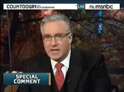 Democratic donations: Keith Olbermann's political contributions led to a brief suspension at MSNBC.