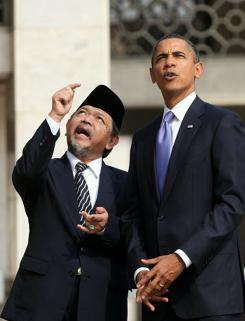 President Obama listens to Grand Imam Ali Mustafa Yaqub during a visit at the Istiqlal Mosque in Jakarta last week.