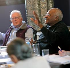 Carter and Tutu: Co-authored an opinion piece that ran in USA TODAY last week.