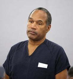 O.J. Simpson: Serving time in prison.
