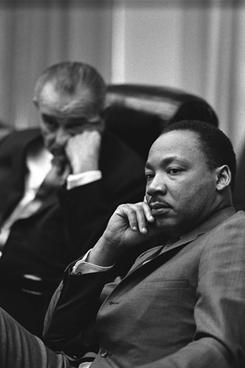 At the White House: President Johnson and the Rev. Martin Luther King Jr. in 1966.