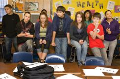 Mandatory class: Austin's Akins High School health class addresses the realities, cost and consequences of being a teenage parent. The program is mandated in health classes for Texas High School students.
