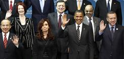 Fall in Seoul: President Obama and other world leaders at the Group 20 summit of the world's top economies in November.