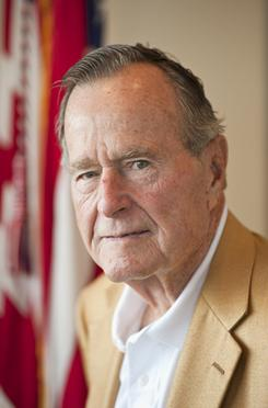 Bush: The former president, and 14 other people, received the Medal of Freedom on Tuesday.