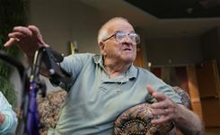 On Social Security: Retired beer truck driver Frank Ferrira, 90, of Pembroke Pines, Fla.