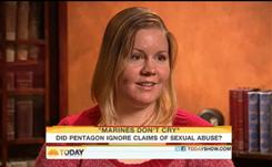 Former Marine corporal Sarah Albertson told the Today show that after she was raped by a superior at Camp Pendleton in Southern California, she felt safer being deployed to Iraq.