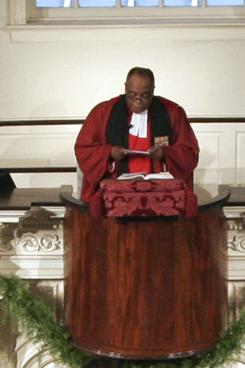 The Rev. Peter Gomes of The Memorial Church at Harvard University in 2007.