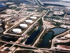 Undated file photo shows one of the Strategic Petroleum Reserve sites, this one in Texas.