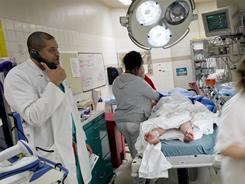 Trauma unit: About 2 million people a year get an infection during a hospital stay.
