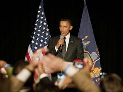 Fundraiser in chief: President Obama campaigns for Democrats in Harlem last month.